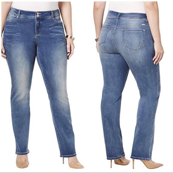 23664885d818 Inc Straight Leg Slim Tech Fit Stretch Jeans 24W